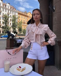 Close to My Heart Bow tie Blouse Mode Outfits, Girly Outfits, Classy Outfits, Stylish Outfits, Summer Outfits, Fashion Outfits, Classy Casual, Classy Dress, Elegantes Outfit Frau