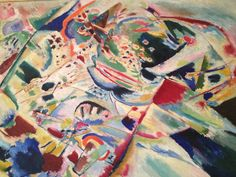 Kandinsky at Moma - wish I could've  seen that show. His brushstrokes look German Expressionist. Lots of activity going on.
