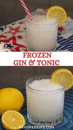 Summer just got better with this frozen gin and tonic slush. In the heat of the summer this slush is a refreshing way to cool down and relax. | Frozen Drink | Drink Recipe | Cocktail Recipe | Gin & Tonic Recipe | #recipe #cocktail #ginandtonic Frozen Cocktails, Refreshing Cocktails, Fun Cocktails, Alcoholic Drinks With Pineapple Juice, Cocktail Recipes For A Crowd, Holiday Drinks, Holiday Recipes, Smoothie Drinks, Smoothies