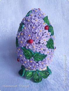 Поделка изделие Пасха Квиллинг Квиллинговые яйца Бумажные полосы фото 14
