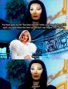 The Addams Family <<< Morticia Addams is my spirit animal Die Addams Family, Addams Family Values, Addams Family Quotes, Los Addams, Dark Beauty, Funny Memes, Hilarious, Funny Quotes, Film Serie