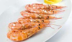 Grilled shrimp. Gambas a la plancha