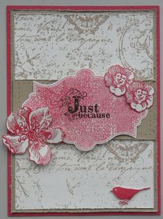 Stampin' Up!  Very Vintage jumbo wheel, Everything Eleanor; Cards by Marion