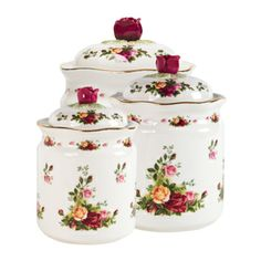 Brand New Royal Albert Old Country Roses Canisters Set of Pre order. Brand New Royal Albert Old Country Roses Canisters Set of Pre order. Dimension: 45 x x cm Send us a direct message to inquire. Royal Albert, Outdoor Kitchen Countertops, Marble Countertops, Kitchen Canister Sets, Rose Gift, Royal Doulton, Vintage China, Fine China, Food Storage
