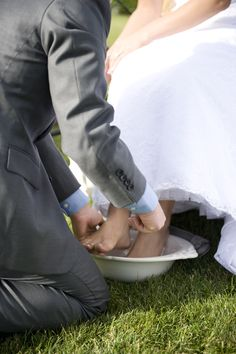 We washed each other's feet on our wedding day to show that we will 'serve' each other in our marriage