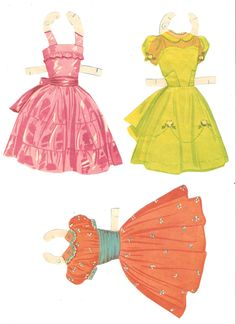 GARDEN PARTY or PETTICOAT GIRL Paper Dolls:  Gayle <G> Lynette <L> Maureen <M> Amy <A> Page 2 of 8