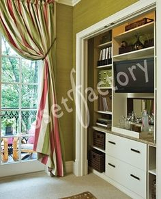 Office/entertainment center built into spare closet - contemporary - home office - los angeles - Kay Wade, Closet Factory