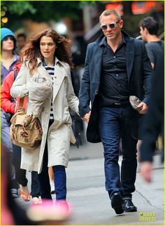 Stylish couple on the go. The classics in action I might add.