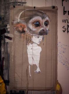 Street Art Urban Graffiti Turkey Monkey ISTANBUL | HERAKUT