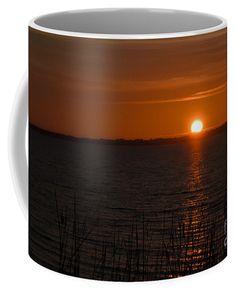 Sunset On The Lake Coffee Mug by Scott Hervieux.  Small (11 oz.)