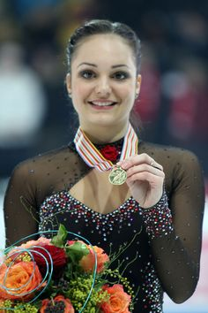 figure skater Sarah Meier... She was Athlete of the Year in Switzerland in 2011.