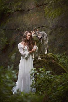 by Marketa Novak on Horse Girl Photography, Fantasy Photography, Animal Photography, Fantasy Wolf, Dark Fantasy Art, She Wolf, Wolf Girl, Beautiful Wolves, Beautiful Artwork
