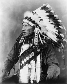 Red Bird Sioux Indian 1908 Vintage 8x10 Reprint Of Old Photo Red Bird Sioux Indian 1908 Vintage 8x10 Reprint Of Old Photo This is an excellent reproduction of an old photo. Reproduced photo is in mint