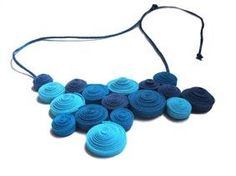 Des bijoux en récup textile | Neomansland, le blog vert !