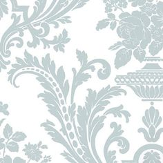Blog post:  Wallpaper Wednesday - Blue and White Damask Wallpapers.  Antique Homes and Lifestyle