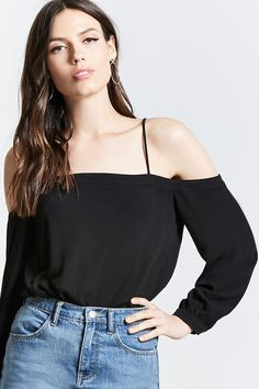Contemporary Open-Shoulder Top | Forever21