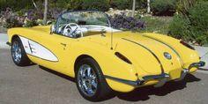 1958 Yellow and White Corvette