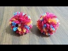 How to Make a Pom Pom That Won't Fall Apart! used as the dog puppet's nose, etc. Pom Pom Rug, Pom Pom Garland, Pom Poms, Craft Stick Crafts, Yarn Crafts, Diy And Crafts, Fabric Crafts, How To Make A Pom Pom, How To Make Bows