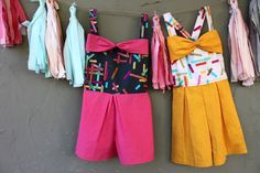 How to sew a romper with a zipper - no pattern required!