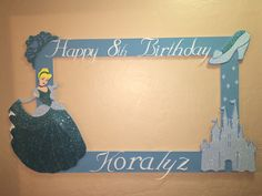 photo frame party prop princess Cinderella  to take  pictures, photo booth frame