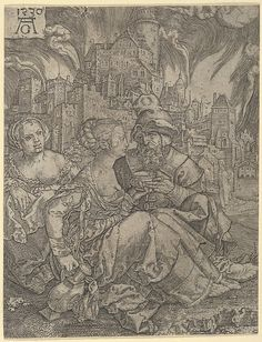 Lot and His Daughters - Heinrich Aldegrever