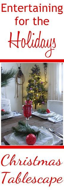 How to create a simple and elegant holiday tablescape for entertaining guests. Christmas And New Year, All Things Christmas, Christmas Holidays, Christmas Bulbs, Christmas Ideas, Holiday Tablescape, Christmas Tablescapes, New Years Decorations, Christmas Decorations