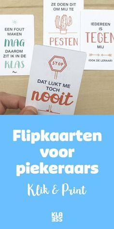 Kaarten tegen piekeren. Primary Education, Education Quotes For Teachers, Teacher Quotes, High School Counseling, School Classroom, Educational Leadership, Educational Technology, Learning Quotes, Learning Activities