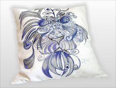 ZAKRĘCONY+LEW+grafika+ręcznie+malowany+45x45+w+W.pelni+Design+na+DaWanda.com