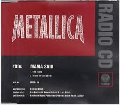 "For Sale - Metallica Mama Said UK Promo  CD single (CD5 / 5"") - See this and 250,000 other rare & vintage vinyl records, singles, LPs & CDs at http://eil.com"