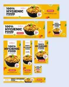 Banner Design Inspiration, Web Banner Design, Web Banners, Food Template, Banner Template, Food Branding, Food Packaging, Food Poster Design, Food Design