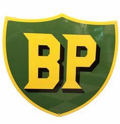 BP Logo Heavy Porcelain Sign 50 x 47 cm
