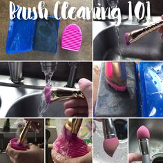 How to cleanse Brushes! Using Gender Bender Chunk Bar from Perfectly Posh. $9 USD.