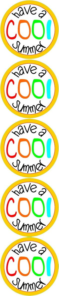 Dramatic image for have a cool summer printable