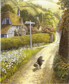 """Inga Moore ~ Kenneth Grahame, """"The Wind in the Willows"""""""