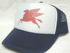 MOBIL HORSE trucker hat mesh hat - Automobile b2ea3fc20f12