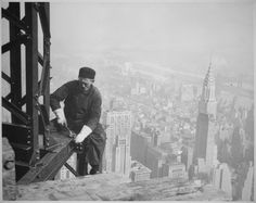 These vintage industrial photos are from a series taken by investigative photographer Lewis Hine for the Works Progress Administration's (WPA) National Research Project, highlighting changes in industry and their effect on employment.