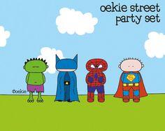 oekie PARTY set - Superheros. $25.00, via Etsy.