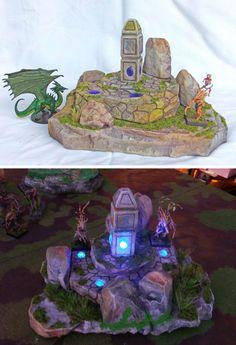 Illuminated Sacred Ground - LED lit ruins