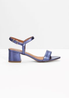 & Other Stories | Satin Mid Heel Sandals