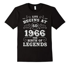Men's LIFE BEGINS AT 50 the birthday of LEGENDS Tshirt 2X...