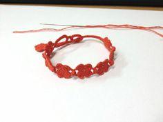 Cruciani style bracelet - crochet free pdf pattern (english version)