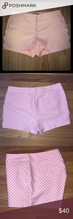 Scallop-pocket shorts New with Tags. I love these shorts but they are just to big for me! These are the cutest shorts and perfect for summer! ** look at last picture for product details! J. Crew Shorts