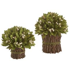 These handcrafted poplar bouquets from Pier 1 make lush centerpieces for your tabletop.