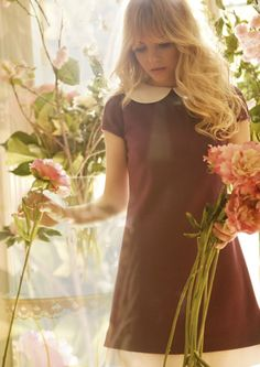 flowers and collared dress
