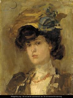 Isaac Israels  (Dutch: 1865 – 1934) - La belle Parisienne