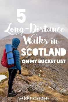 I fell in love with trekking in Scotland on the West Highland Way! This year I've got 5 long-distance trails in Scotland on my wish list - leading off the beaten track through the Highlands, along rivers and across the Scottish islands. Ready to find out about the best trekking in Scotland?
