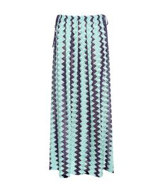 Missoni Mare - Printed skirt - Conquer the beach with Missoni Mare's multicoloured skirt. Crafted in Italy and featuring the designer's distinctive crochet-style knit, this piece features tied sides and a high slit. The blue stripes are semi-sheer for an additional hint of skin. - @ www.mytheresa.com
