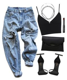 Street Style Trends: Shopthe-Look: Ripped Boyfriend Jeans Schwarzes Crop Top Schwarz… Shopthe-Look: Look Fashion, Teen Fashion, Fashion Outfits, Fashion Trends, Nu Goth Fashion, Fashion News, Latest Fashion, Classy Fashion, Urban Fashion