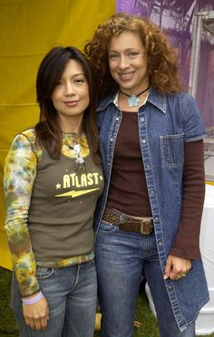 Ming-Na Wen and Alex Kingston. This picture couldn't get any more awesome!!