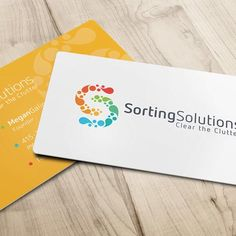 DK Design Studio developed the logo and business cards for Sorting Solutions. Business Card Logo, Sorting, Social Media, Studio, Logos, Projects, Design, Log Projects, Studios